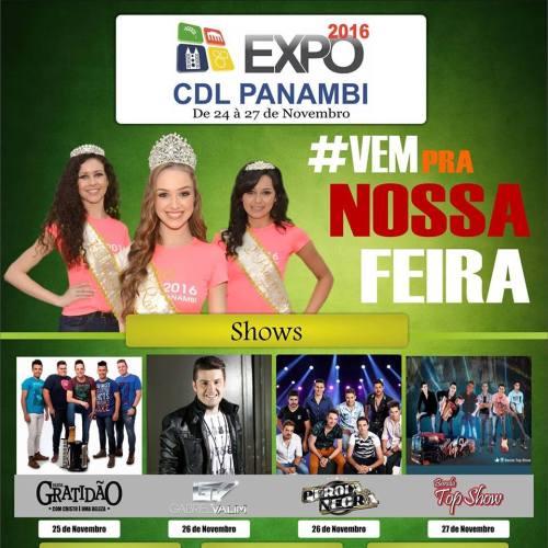 NOIA Eventos - Expo CDL - de 24 a 27 de Outubro 2016 - Panambi - RS