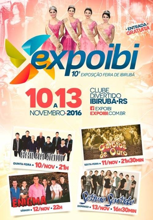 NOIA Eventos - X Expoibi - 10 a 13 de Novembro 2016 - Ibirubá - RS