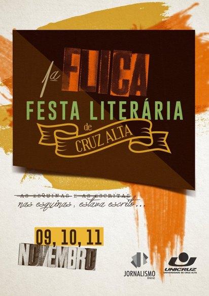 NOIA Eventos - 1ª FLICA - Festa Literária de Cruz Alta - 09, 10 e 11 de Novembro 2016 - Cruz Alta - RS