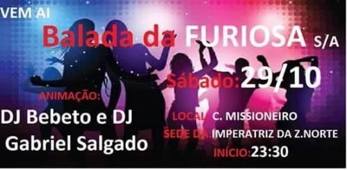 NOIA Eventos - Balada da FURIOSA SA - 29 de Outubro 2016 - Cruz Alta - RS