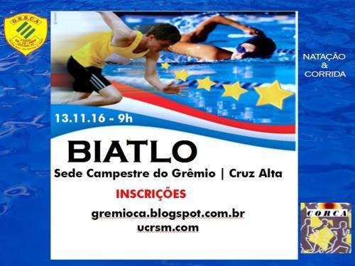 NOIA EVENTOS - Biatlo - Natação e Corrida - 13 de Novembro 2016 - Cruz Alta - RS