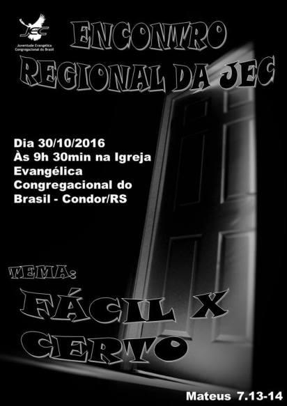 NOIA Eventos - Encontro Regional de Jovens JEC - 30 de Outubro 2016 - Condor - RS