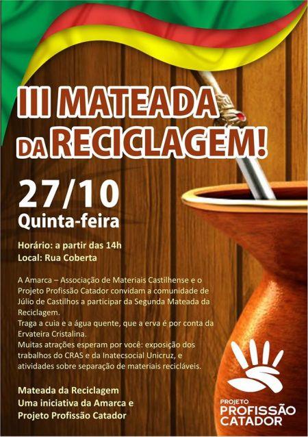 NOIA Eventos - III Mateada da Reciclagem - Projeto Profissão Catador Unicruz - 27 de Outubro 2016 - Julio de Castilhos - RS