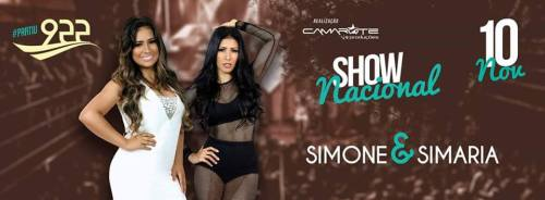 NOIE EVENTOS.com - Simone e Simaria - 10 de Novembro 2016 - Ibirubá - RS