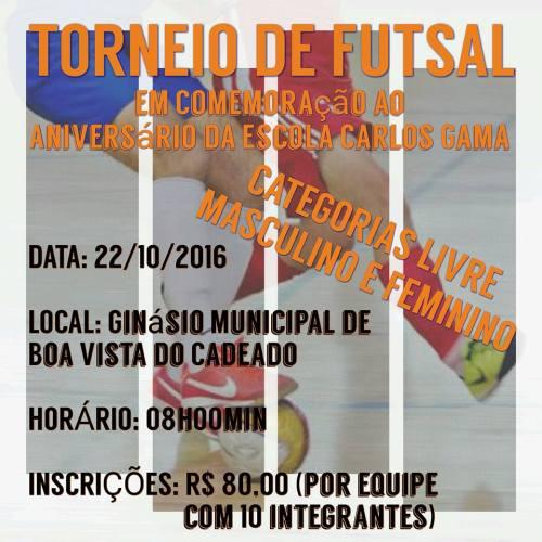 NOIA Eventos.com - Torneio de Futsal - 22 de Outubro 2016 - Boa Vista do Cadeado - RS