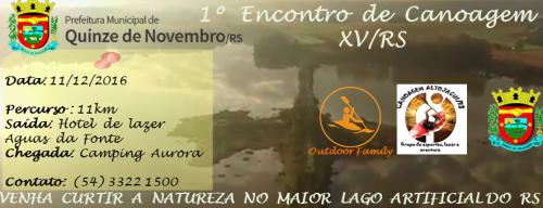 NOIA EVENTOS.com - 1º Encontro de Canoagem - 11 de Dezembro 2016 - Quinze de Novembro - RS