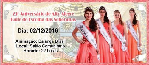 NOIA EVENTOS.com - 29º Aniversário do Município de Alto Alegre - 02 de Dezembro 2016 - RS