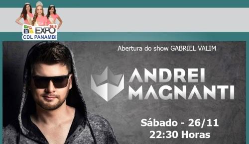NOIA EVENTOS - Andrei Magnanti - Expo CDL - 26 de Novembro 2016 - Panambi - RS