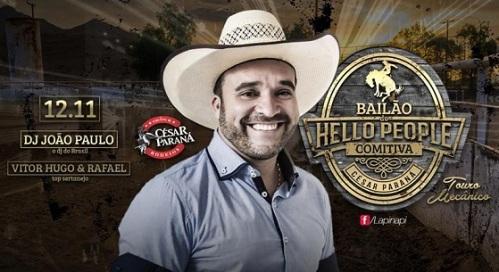 NOIA EVENTOS - Bailão do Hello People - DJ João Paulo - Vitor Hugo e Rafael - 12 de Novembro 2016 - Cruz Alta - RS