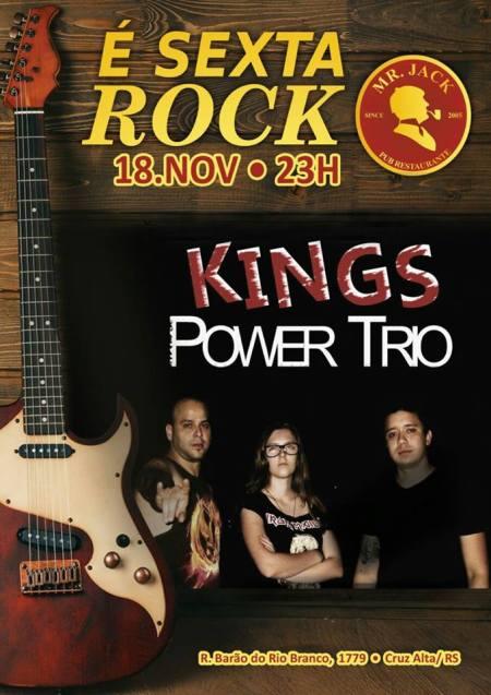 NOIA EVENTOS.com - Kings Power Trio - 18 de Novembro 2016 - Cruz Alta - RS