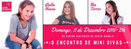 NOIA EVENTOS.com - Laura Schadeck - The Voice Kids - Encontro de Mini Divas - 11 de Dezembro 2016 - Santo Ângelo - RS