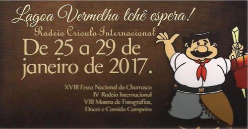 NOIA EVENTOS.com - Rodeio Crioulo Internacional - 25 a 29 de Janeiro 2017 - Lagoa dos Três Cantos - RS