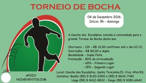 NOIA EVENTOS.com - Torneio de Bocha - 04 de dezembro 2016 - Cruz Alta - RS