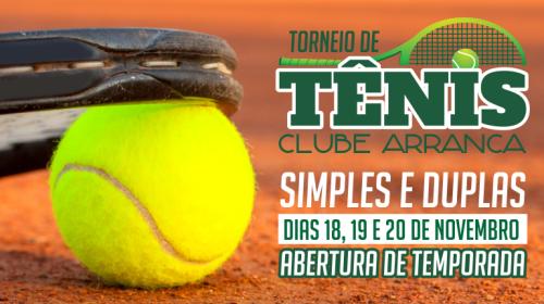 NOIA EVENTOS - Torneio de Tênis - 18 a 20 de Novembro 2016 - Cruz Alta - RS