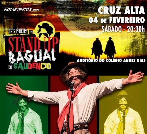 NOIAEVENTOS.com - Cris Pereira - Stand Up Bagual do Gaudêncio - 04 de Fevereiro 2017 - Cruz Alta - RS