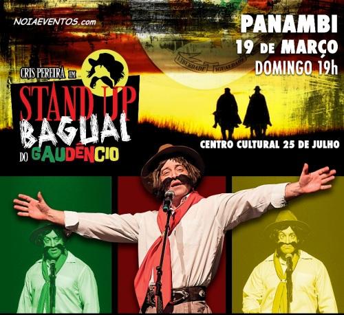 NOIAEVENTOS.com - Cris Pereira - Stand Up Bagual do Gaudêncio - 19 de Março 2017 - Panambi - RS