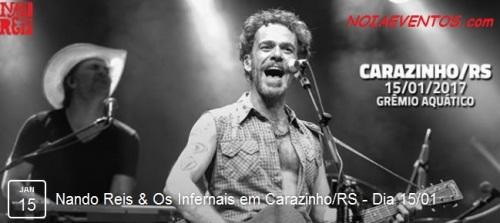 NOIAEVENTOS.com - Nando Reis e Os Infernais - 15 de Janeiro 2017 - Carazinho - RS