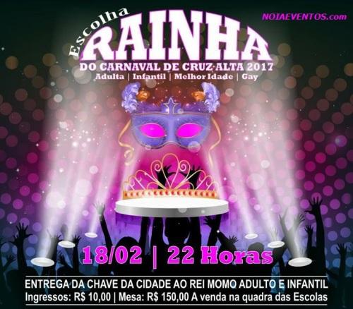 NOIAEVENTOS.com - Escolha da Corte do Carnaval - 18 de Fevereiro 2017 - Cruz Alta - RS