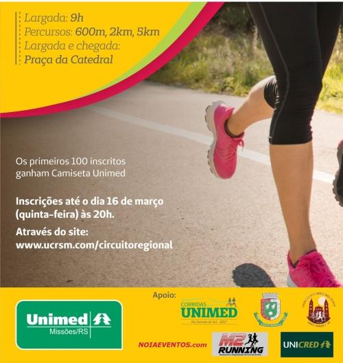 NOIAEVENTOS.com - NOIAEVENTOS.com - VI Circuita Regional de Corridas de Rua - 19 de Março 2017 - 1ª Etapa - Santo Ângelo - RS.