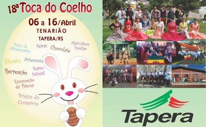 NOIAEVENTOS.com - 18ª Toca do Coelho - de 06 a 16 de Abril 2017 - Tapera - RS