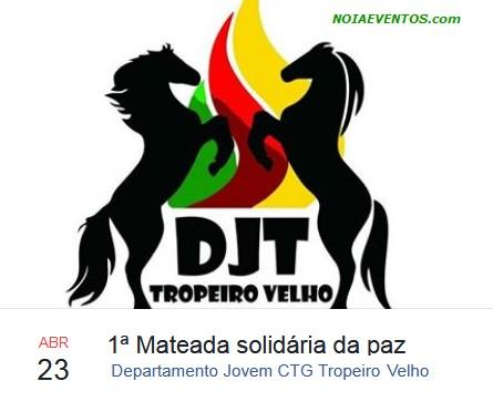 NOIAEVENTOS.com - 1ª Mateada Solidária da Paz - 23 de abril 2017 - Panambi - RS