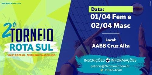 NOIAEVENTOS.com - 2º Torneio Rota Sul de Vôlei de Praia - 01 e 02 de Abril 2017 - Cruz Alta - RS