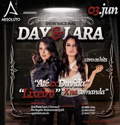 NOIAEVENTOS.com - Day e Lara - Até Ex Duvida - Show Nacional - 03 de Junho 2017 - Ijuí - RS
