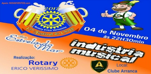 NOIAEVENTOS.com - 12º Festival do Chopp do Rotary Erico Veríssimo - 04 de Novembro 2017 - Cruz Alta - RS