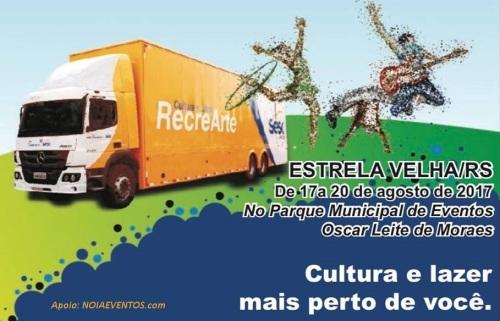 NOIAEVENTOS.com - Cultura e Lazer RecreArte - de 17 a 20 de Agosto 2017 - Estrela Velha - RS