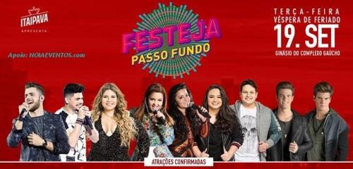 NOIAEVENTOS.com - Festeja Passo Fundo 2017 - 19 de Setembro 2017 - Passo Fundo - RS