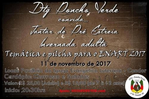 NOIAEVENTOS.com - Pré Estréia Invernada Adulta DTG Poncho Verde - Condor